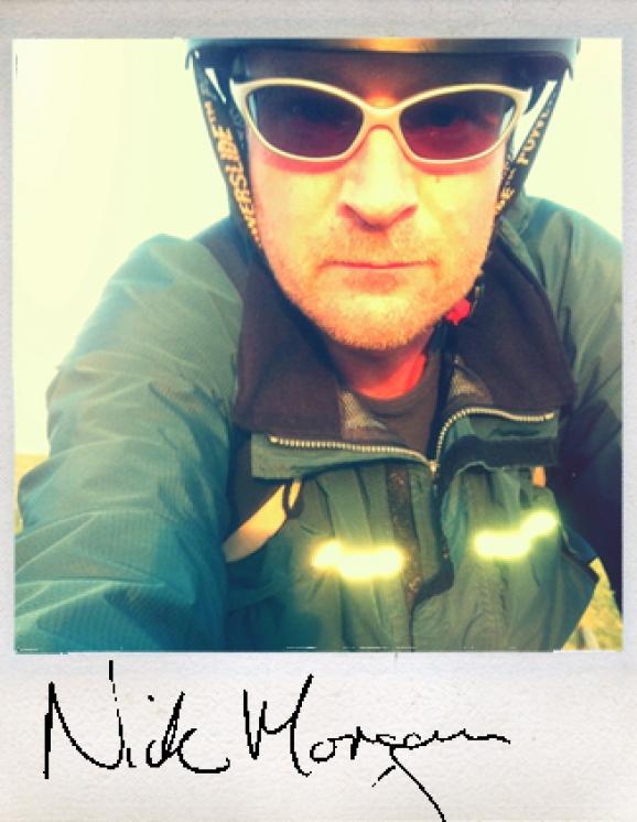 Nick Morgan on a bike